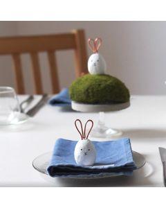 Kanin bordkort lavet af Fimo Air