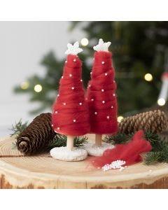 Juletræ beklædt med XL kæmpegarn