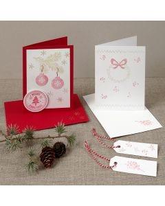 Julekort med stempeltryk