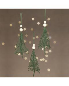 Juletræ af macrame til ophæng