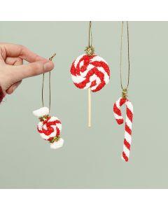 Slik til juleophæng lavet af Foam Clay