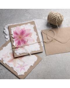 Sådan laver du håndlavet papir med servietmotiv