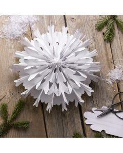 Snefnug stjerne af papirspose
