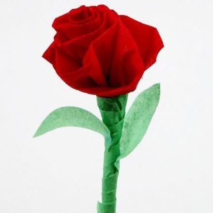 Rose i crepepapir