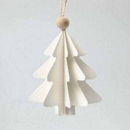 Foldede juletræer i karton