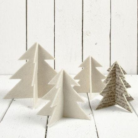 Filt juletræer