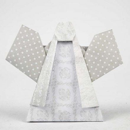 Foldet engel i designpapir fra Vivi Gade