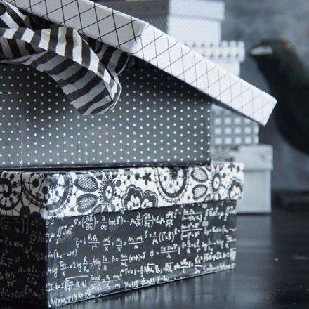 Æske, beklædt med Paris designpapir