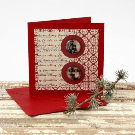 Julekort med stickers og designpapir fra Vivi Gade