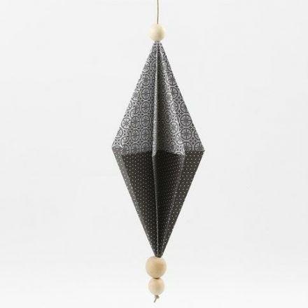 Rektangulær papirdiamant i designpapir fra Vivi Gade