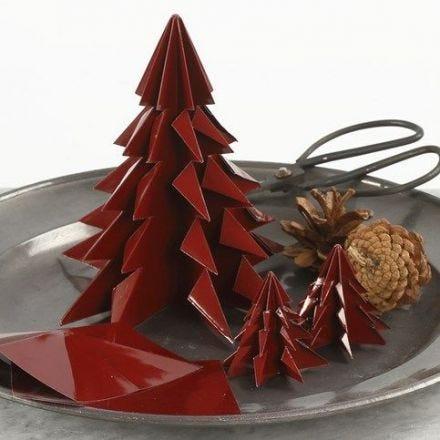 Juletræ af foldet, blankt origamipapir