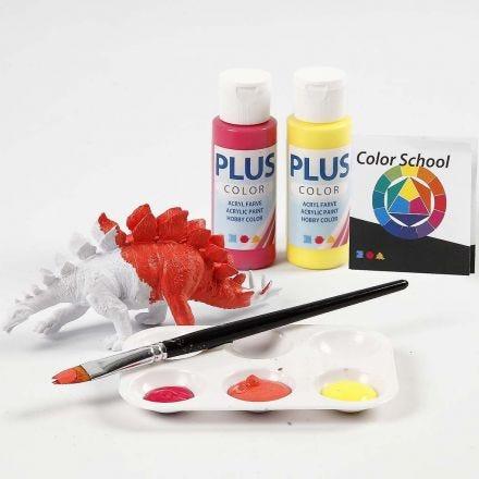Dinosaur malet med primærfarver
