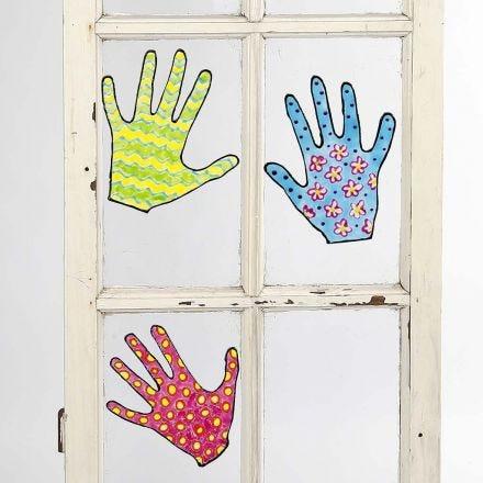 Flytbare malede motiver til vinduer