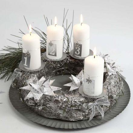 Adventskrans i sølv