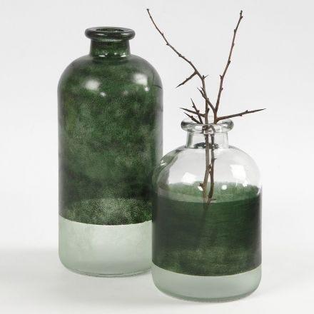 Apotekerflaske dekoreret med Glass Color