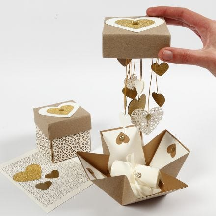 DIY explosion box til bryllup