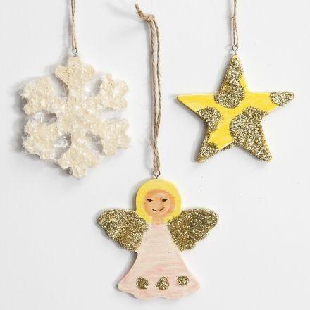 Juleophæng med glitter