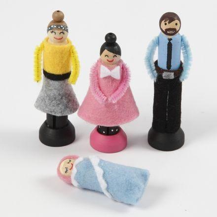 Dukker lavet af tøjklemmer