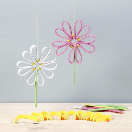 Farverig blomst af mosgummi