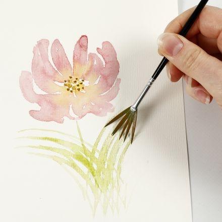 Sådan maler du akvarel med lette strøg