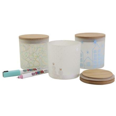 Dekorative opbevaringsglas med flotte motiver