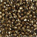 Facetperler, str. 3x4 mm, hulstr. 0,8 mm, metallic bronze, 100 stk./ 1 pk.