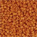 Rocaiperler, diam. 3 mm, str. 8/0 , hulstr. 0,6-1,0 mm, orange, 25 g/ 1 pk.