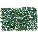 Rocaiperler, diam. 3 mm, str. 8/0 , hulstr. 0,6-1,0 mm, grøn olie, 500 g/ 1 pk.