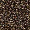 Rocaiperler, diam. 3 mm, str. 8/0 , hulstr. 0,6-1,0 mm, bronze, 25 g/ 1 pk.