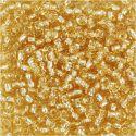 Rocaiperler, diam. 3 mm, str. 8/0 , hulstr. 0,6-1,0 mm, guld, 25 g/ 1 pk.