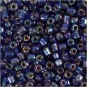 Rocaiperler, diam. 4 mm, str. 6/0 , hulstr. 0,9-1,2 mm, blå olie, 25 g/ 1 pk.