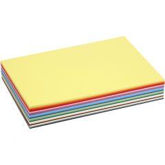 Creativ karton, A4, 210x297 mm, 180 g, ass. farver, 30 ass. ark/ 1 pk.