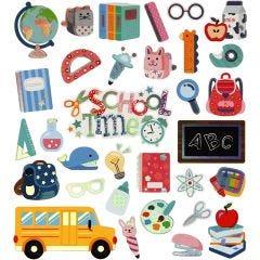 Stickers, skolestart, 15x16,5 cm, 1 ark