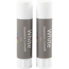 White Limstift , rund, 2 stk./ 1 pk., 10 g
