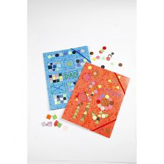 Elastikmapper med mosaik