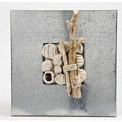 Strandikon lavet i zink ramme