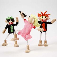 Rockstjerner af Flexi-fig Figurer og Silk Clay