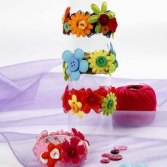 Blomster armbånd