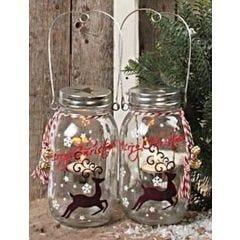 Glaslanterne med glasmaling