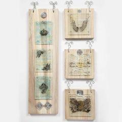 Træikoner med glasplader