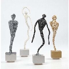 Silk Clay skulpturer på fod