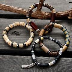 Elastikarmbånd med perler