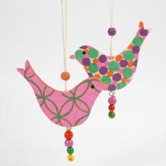 Træfugle dekoreret med Poster Hobby Marker