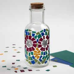 Glasflaske med Color Decor