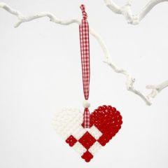 Hjerteophæng i rørperler