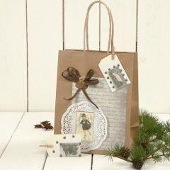 Gavepose med dekoration
