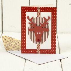 Julekort med elg i design fra Vivi Gade