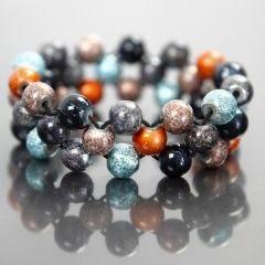 Elastikarmbånd med fashion mix perler