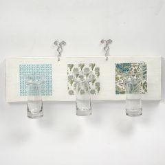 Træliste med små hyacintglas