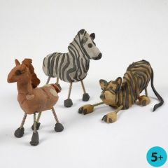 Vilde dyr af selvhærdende ler og skruer